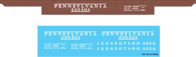 Pennsylvania Railroad F25 Flat Car #435468 Decal Set