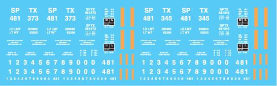 Trinity Rail Management (SPTX) Ortner Hopper Decals