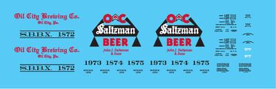 Oil City Brewing Saltzman Beer Billboard Reefer Decals