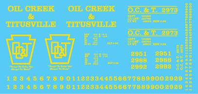 Oil Creek and Titusville Box Car 40ft Single Door