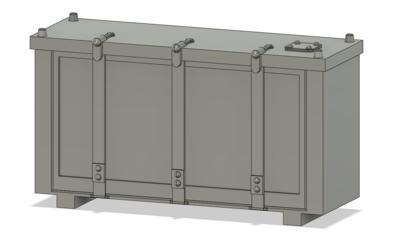 HO Scale Detail Parts - 3 Strap Cab Signal Box (Qty 4)