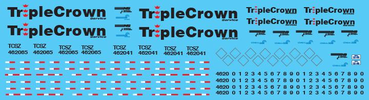 Semi-Trailer Triple Crown Medium Logo