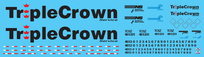 Semi-Trailer Triple Crown Large Logo