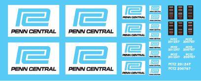 Semi-Trailer Penn Central Green Trailer