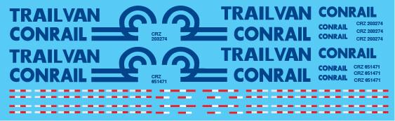 Semi-Trailer Conrail Trailvan