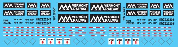Semi-Trailer Vermont Railway