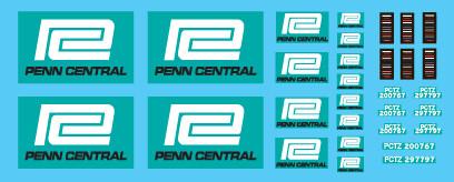 Semi-Trailer Penn Central White Trailer