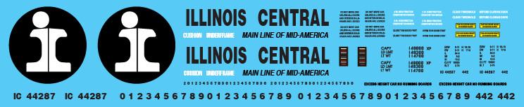 Illinois Central Auto Parts Box car Orange Scheme Decal Set