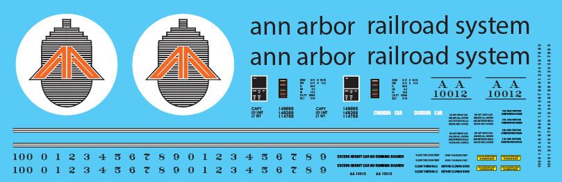 Ann Arbor Auto Parts Box Car MDOT Logo Decals