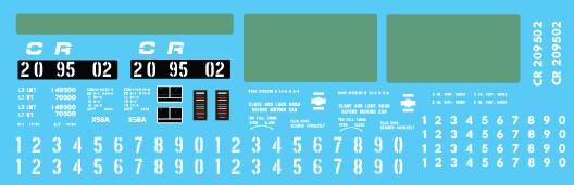 Conrail X58 Box Car PC Patch Out 1 Decal Set