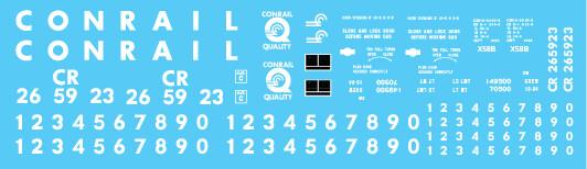 Conrail X58 Box Car Quality Logo Decal Set