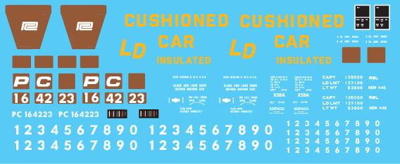 Penn Central X58 Box Car PRR Patch Out 1