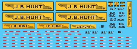 Semi-Trailer JB Hunt