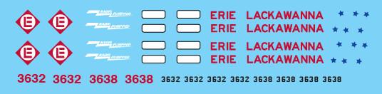 Erie Lackawanna Bicentennial SD45 Decal Set