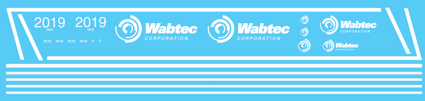 Wabtec Dash 8-40CW Locomotive Decal Set