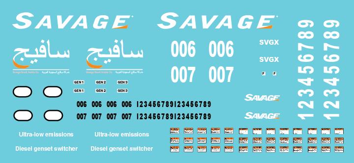 Savage Saudi Arabia Locomotive Decal Set