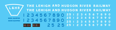 Lehigh Hudson River C420 Loco Decal Set