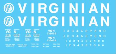 Virginian H21a Hopper Decal Set