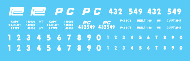 Penn Central H21a Hopper Decal Set