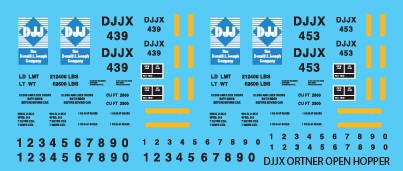 DJJX Ortner Open Hopper Decal Set