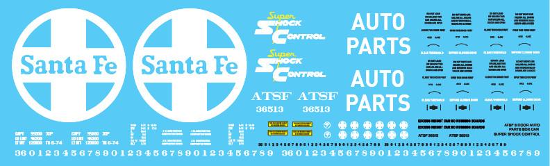 ATSF 8 Door Auto Parts Box Car Super Shock Control