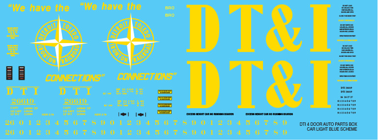 DTI 4 Door Auto Parts Box Car Pink Scheme Decal Set