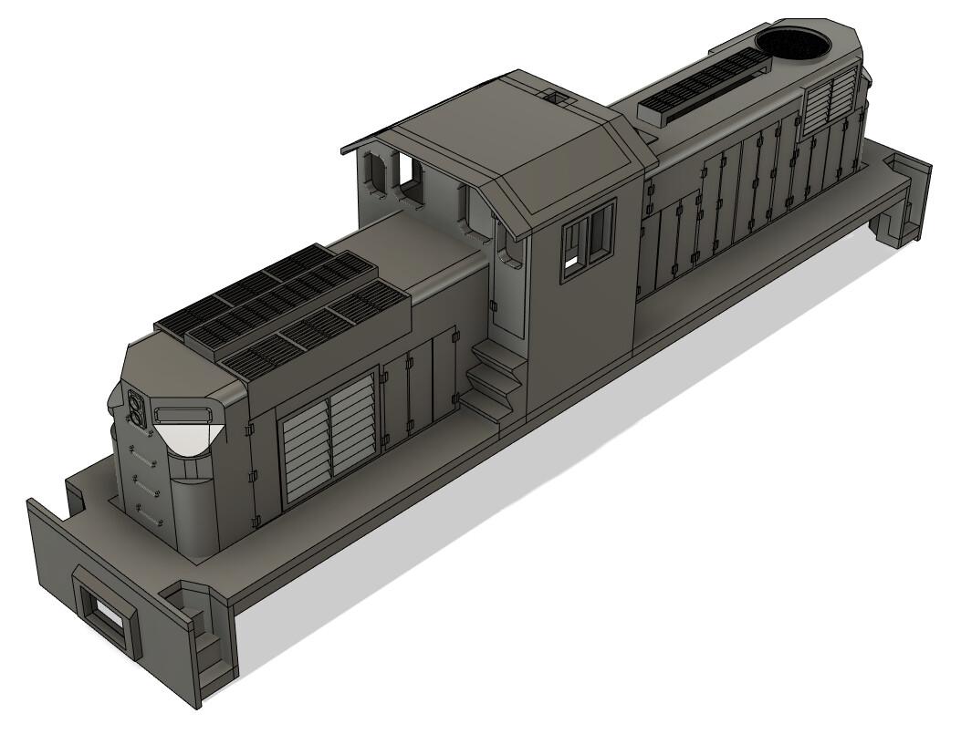 N Scale Alco C415 Locomotive Shell