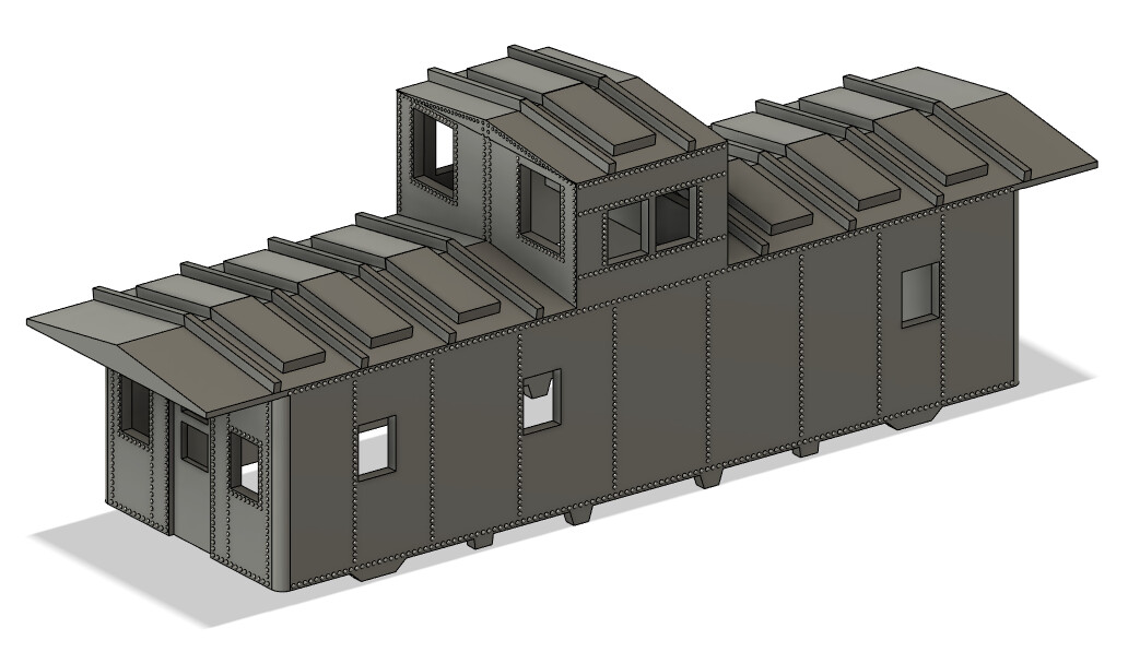 N Scale - Pittsburgh Lake Erie Style Caboose