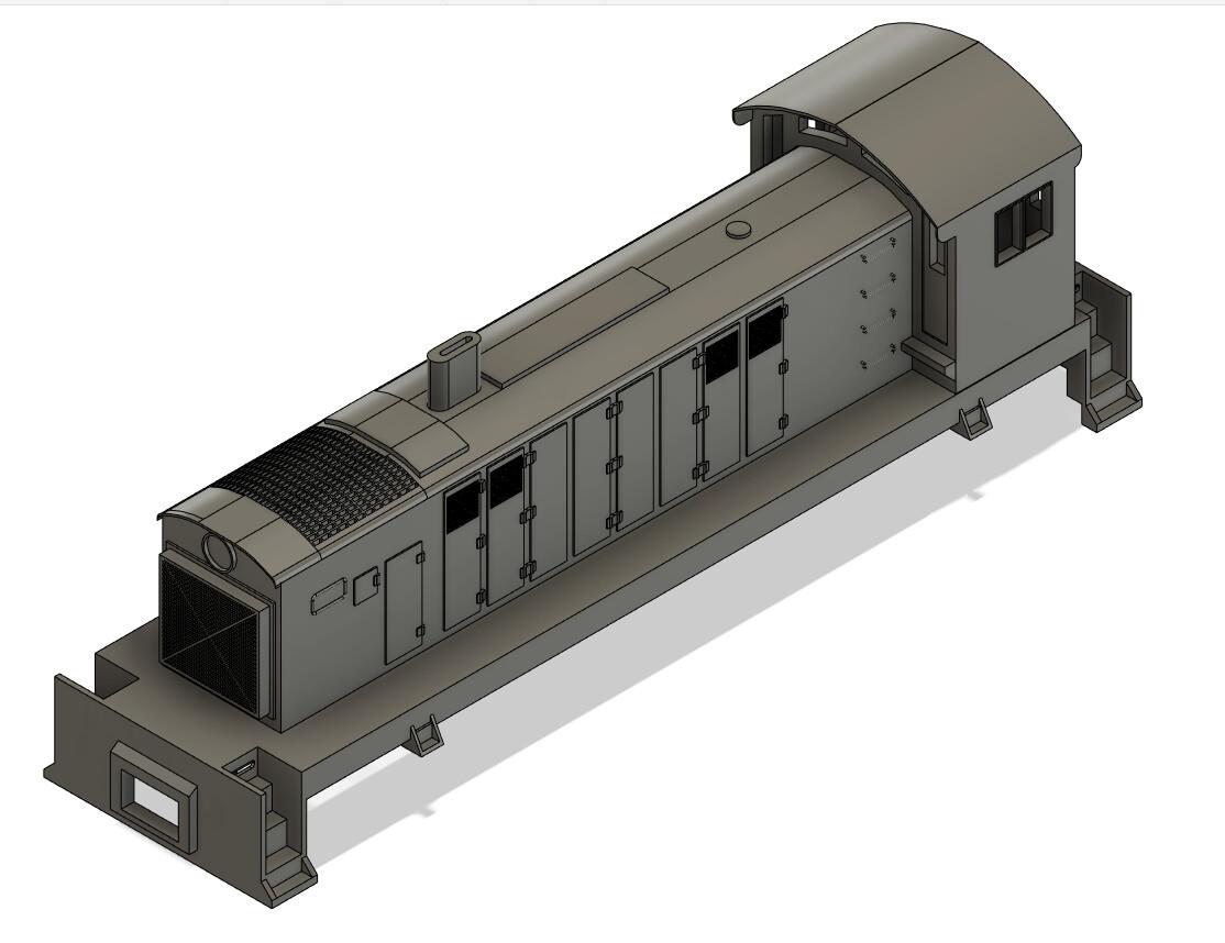 N Scale Alco S-6 Locomotive Shell