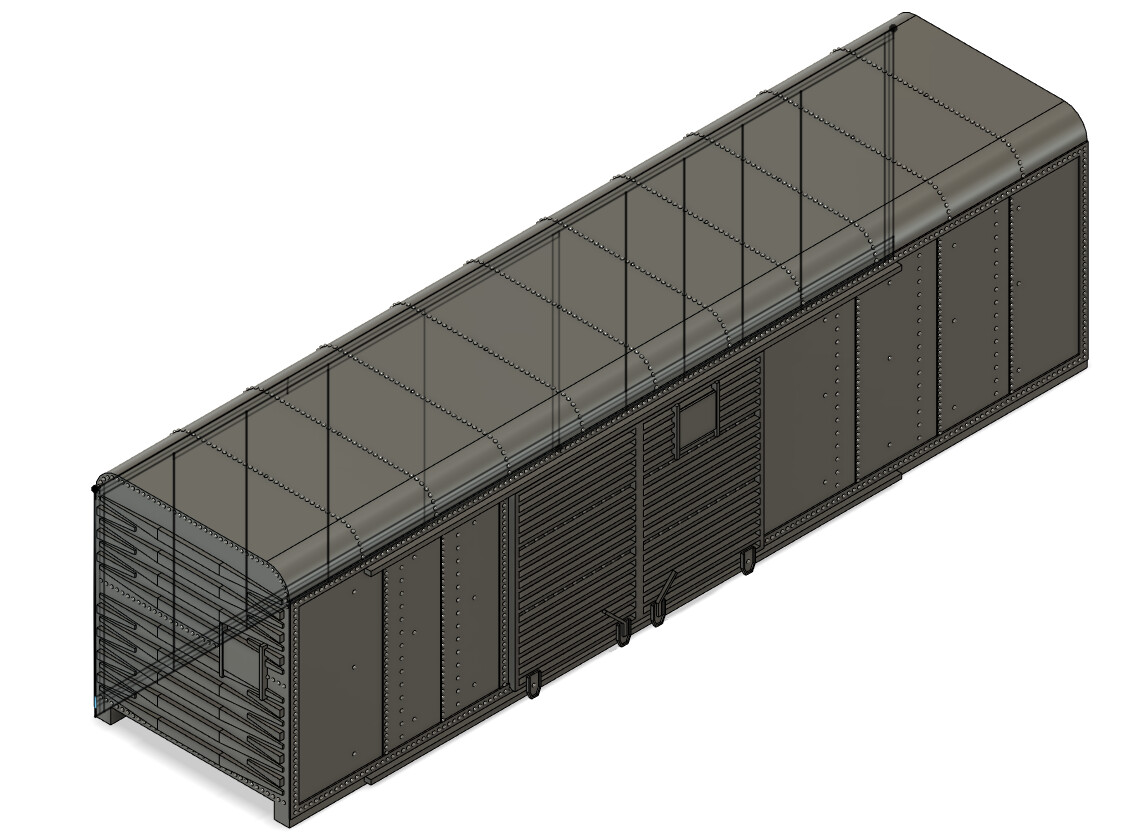 N Scale - PRR X31a Double Door Box Car