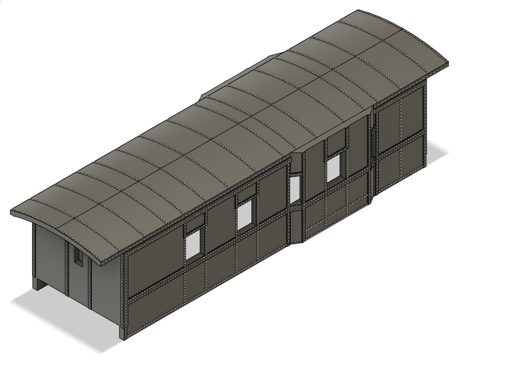 N Scale - Bessemer Lake Erie Offset Bay Window Caboose