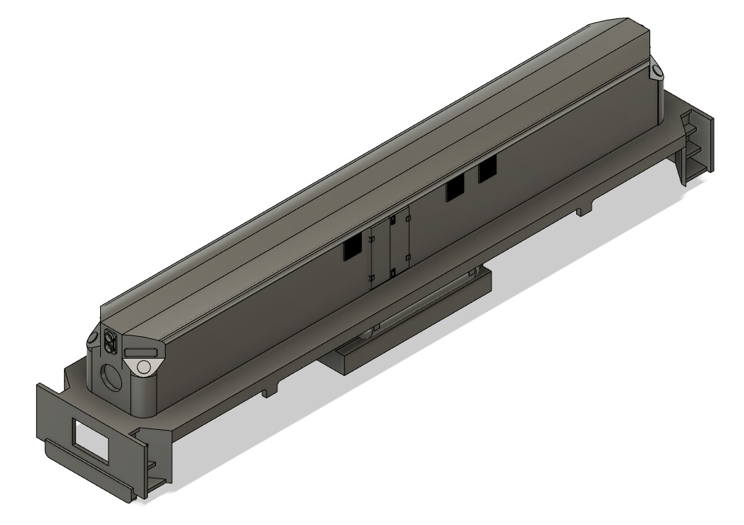 N Scale Conrail MT4 Slug and Frame Locomotive Shell