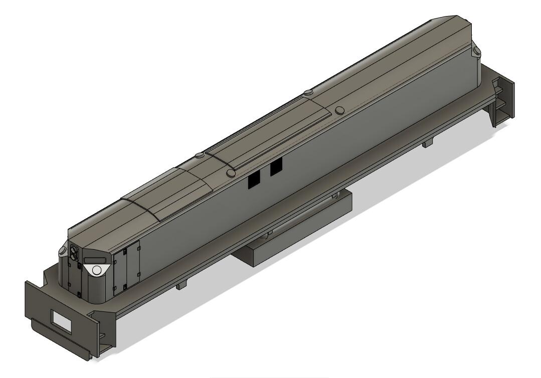 N Scale Conrail MT6 Slug and Frame Locomotive Shell (RSD12)