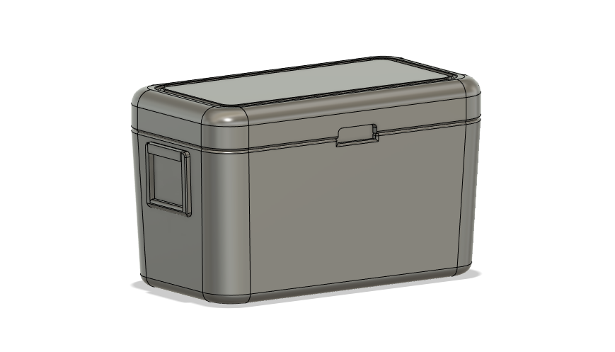 Scenery Detail Parts - 48qt Cooler (Qty 4) - (HO/N Scales)