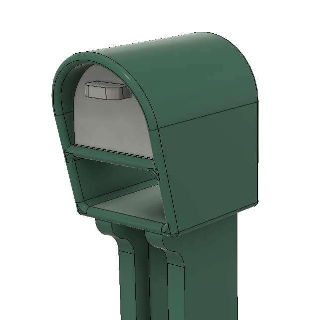 Scenery Detail Parts - Plastic Mailbox (Qty 4) - (HO/N Scales)