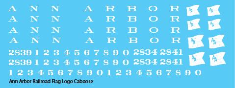 Ann Arbor Caboose Flag Logo Decals