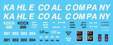 Kahle Coal Co High Side Gondola Decals