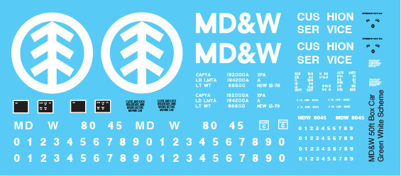 Minnesota Dakota Western Box Car - Green/White Scheme