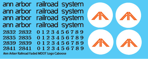 Ann Arbor Caboose Faded MDOT Logo Decals