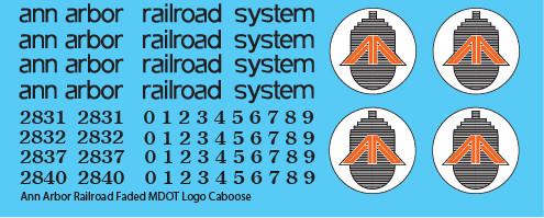 Ann Arbor Caboose MDOT Logo Decals