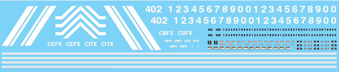 CIT Group GP38s CITX CEFX CBFX Decals