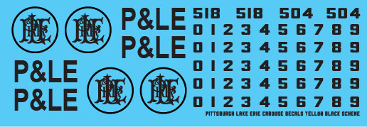 Pittsburgh Lake Erie Yellow Caboose Decals