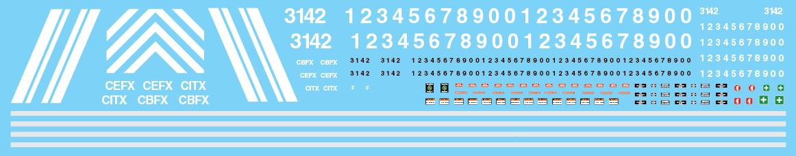 CIT Group Lease Units CITX CEFX CBFX Decals