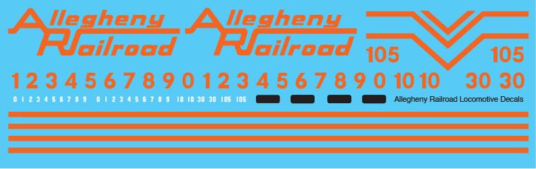 Allegheny Railroad Locomotive Decal