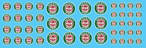Duluth Missabe and Iron Range Logo Decal Set