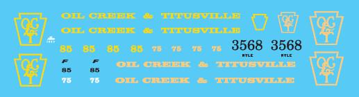 Oil Creek and Titusville Locomotive Decal Set