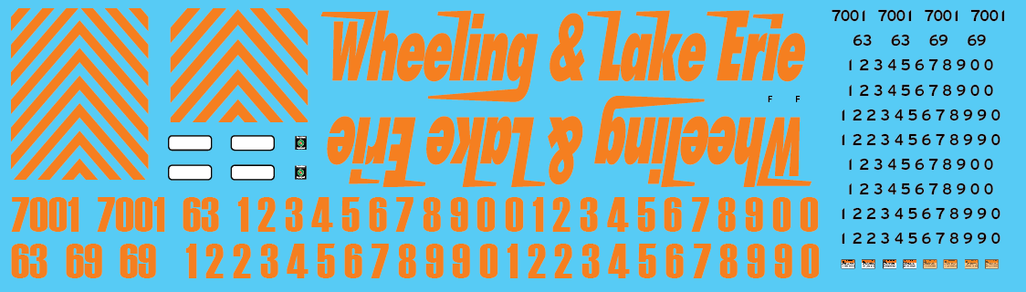 Wheeling & Lake Erie (WE) Locomotive Decals