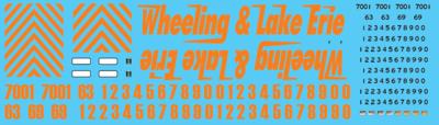 Wheeling & Lake Erie (WE) Locomotive Decals