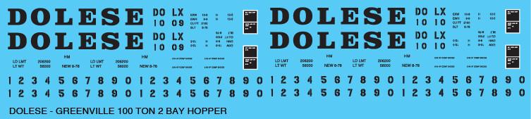 Dolese 100T 2 Bay Open Hopper Decals