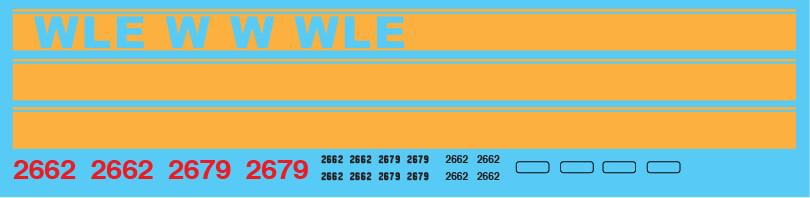 Wheeling & Lake Erie (WE) GP35 Kodachrome Scheme #2662/#2679